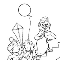 chipmunks birthday coloring page