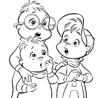 chipmunks coloring page coloring page