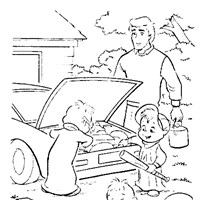 chipmunks play coloring page