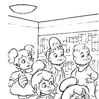 chipmunks coloring page