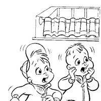 color chipmunks coloring page