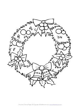 photo regarding Christmas Wreath Printable referred to as Xmas Wreath Coloring Web page All Young children Community