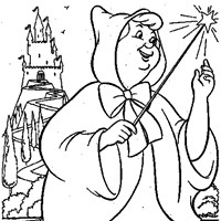 fairy god mother coloring page