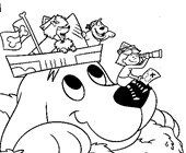 clifford coloring page coloring page