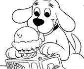 clifford ice cream truck coloring page