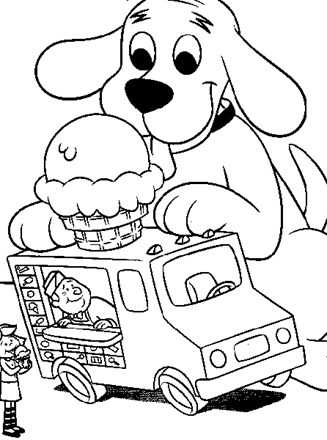 Clifford Coloring Page - clifford coloring page | All Kids Network | 440x327