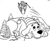 clifford snow coloring page