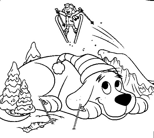 Clifford Coloring Page Clifford Snow All Kids Network