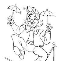 clown coloring coloring page