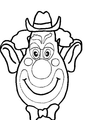 clown face coloring page