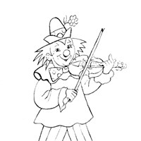 clown music coloring page