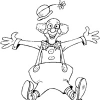 silly clown coloring page