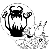 courage the cowardly dog 3 coloring page
