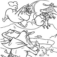 color cow and chicken coloring page