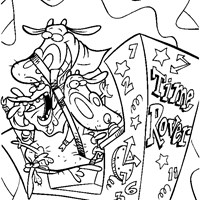 cow and chicken printable coloring page