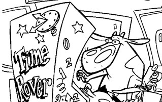cow and chicken coloring page