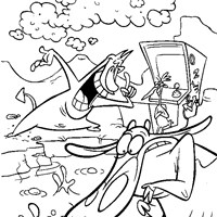 cow chicken coloring page