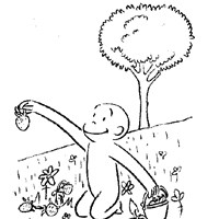 color curious george coloring page