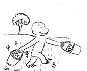 color curiousgeorge coloring page
