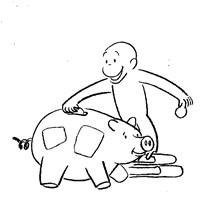 curious george coloring coloring page