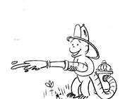 curious george fireman coloring page