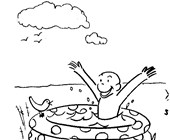 print curious george coloring page