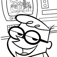 dexter smiling coloring page