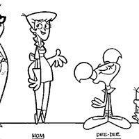 dexters lab family coloring page
