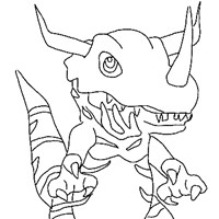 digimonpic coloring page