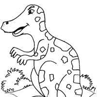 t rex dinosaur coloring page