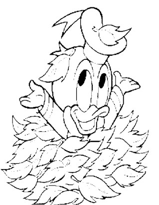 baby donald leaves 6a coloring page