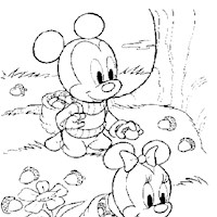 baby mickey 7a coloring page