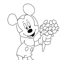 color mickey 4a coloring page