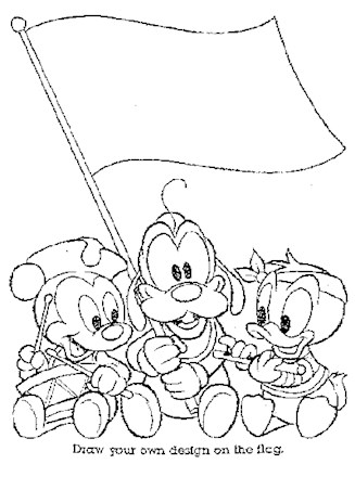 Disney Characters Coloring Page Disney Babies 2a All Kids Network
