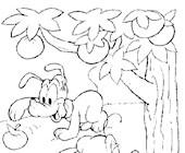 disney baby apples 8a coloring page