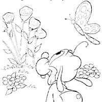 disney butterfly 16a coloring page