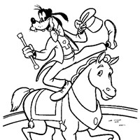 goofy horse 17a coloring page