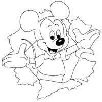 mickey mouse crayon 3a coloring page