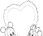 mickey mouse valentine 15a coloring page