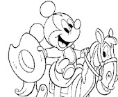 mickey rocking horse 23a coloring page
