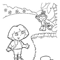 color dora the explorer 1 coloring page