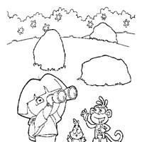 dora boots play  coloring page