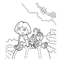 dora coloring 9a coloring page
