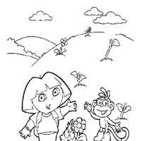 dora the explorer wave  coloring page