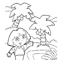 dora the exporer sheet 1 coloring page