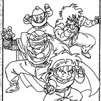 dbz5a coloring page