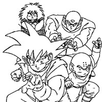 dbz6a coloring page