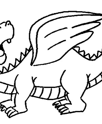 dragon flying coloring page