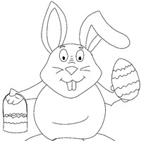 easter coloring coloring page