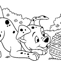 easter egg 101 dalmations coloring page